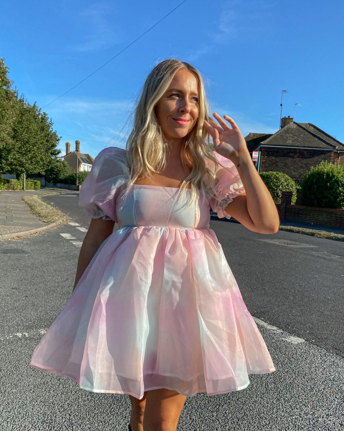 Pastel_Puff_Sleeved_Dress